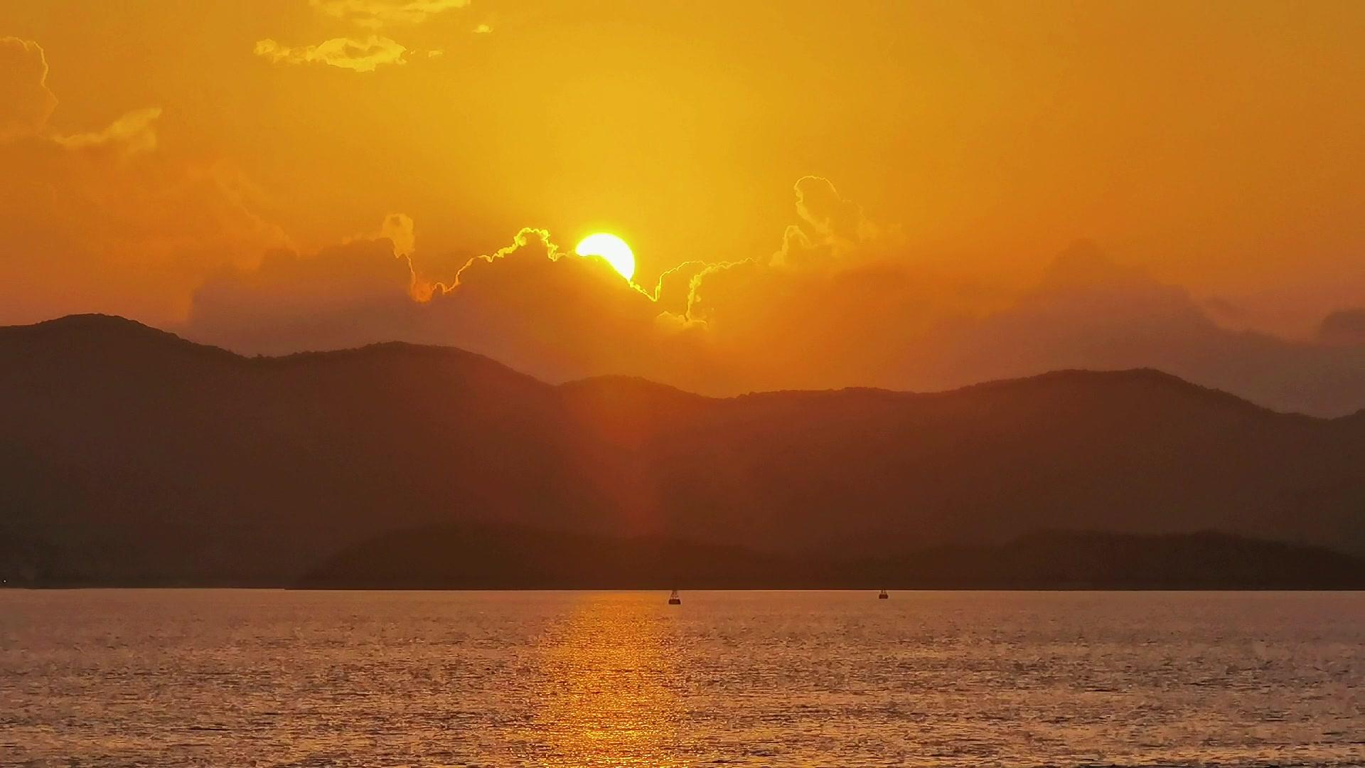 五倍长焦拍摄的海岛日出,爱摄影-荣耀俱乐部